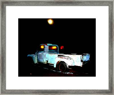 Framed Print featuring the digital art Haunted Truck by Cathy Anderson