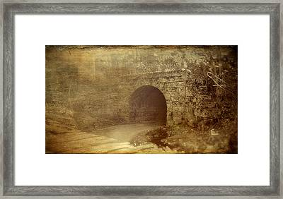 Haunted Tunnel Framed Print by Kathy Jennings