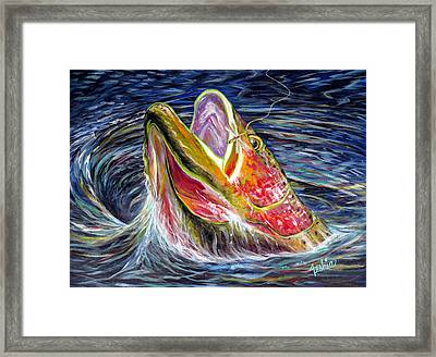 Haunted Waters Framed Print by Teshia Art