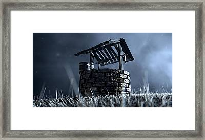Haunted Wishing Well Framed Print