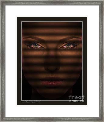 Haunting Eyes Framed Print by Pedro L Gili