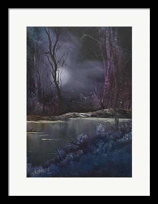 Moonglow Mixed Media Framed Prints