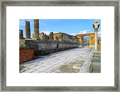 Haunting Ruins Of Ancient Pompeii Framed Print by Mark E Tisdale