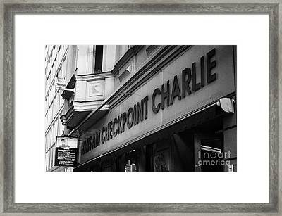 haus am checkpoint charlie museum Berlin Germany Framed Print