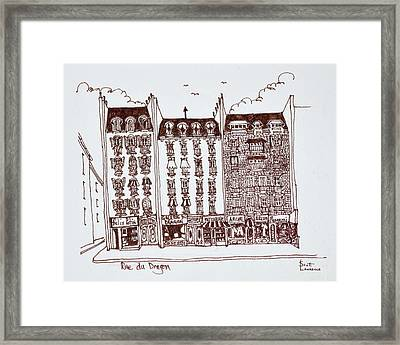 Haussmann Architecture Rue Du Dragon Framed Print