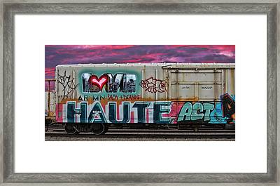 Haute Act   Custom Names Available Framed Print by Sylvia Thornton