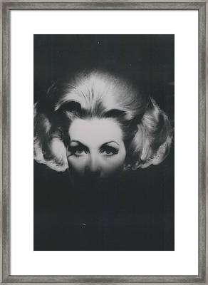 �haute-coiffire�  In Black And Whte Framed Print by Retro Images Archive