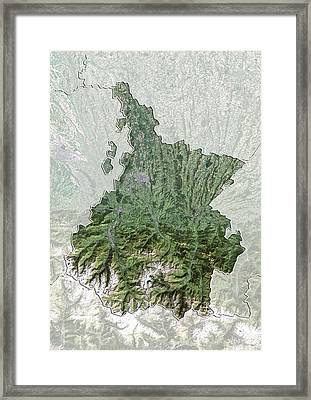 Hautes-pyrenees, France, Satellite Image Framed Print by Science Photo Library