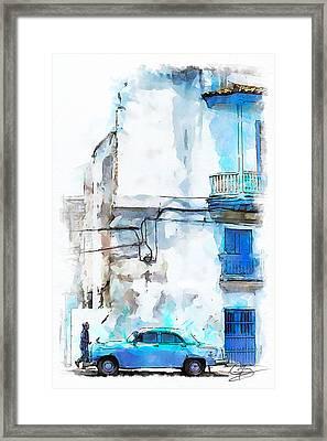 Havana Street Framed Print