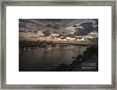 Havana Sunset Framed Print