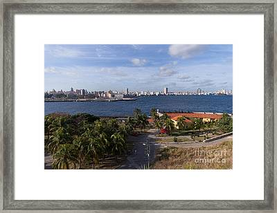 Framed Print featuring the photograph Havanna Skyline by Juergen Klust