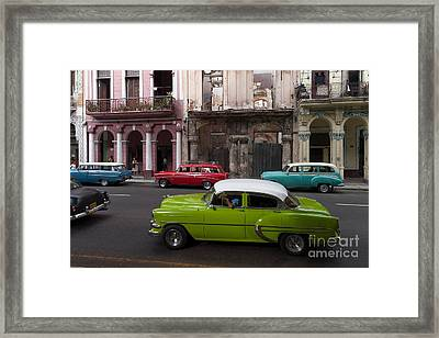 Framed Print featuring the photograph Havanna Traffic by Juergen Klust