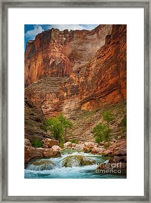 Havasu Creek Number 3 Framed Print by Inge Johnsson