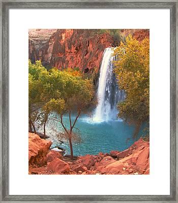 Framed Print featuring the photograph Havasu Falls by Alan Socolik