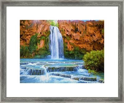 Havasu Falls Framed Print by David Wagner