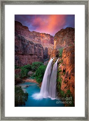 Havasu Falls Framed Print by Inge Johnsson