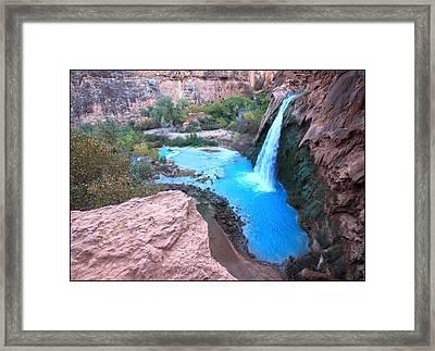 Havasu Falls Framed Print by Stellina Giannitsi