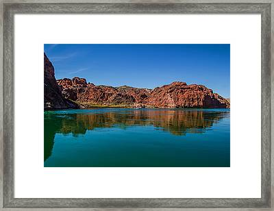 Havasu Glass Framed Print by April Reppucci