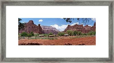 Framed Print featuring the photograph Havasupai Village Panorama by Alan Socolik