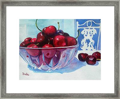 Have A Bing Cherry Go Ahead Try Em Framed Print by Susan Duda