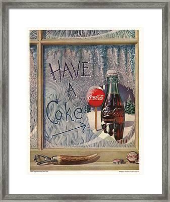 Have A Coke Framed Print by Georgia Fowler