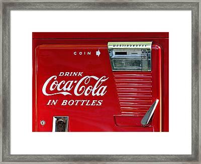 Have A Coke Vintage Vending Machine Framed Print