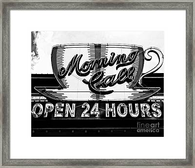 Have A Cup Of Coffee At Morning Call New Orleans Framed Print by Kathleen K Parker