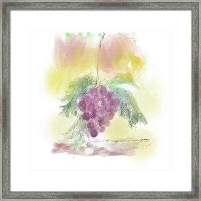 Have A Grape Day Framed Print by Peggy Bosse