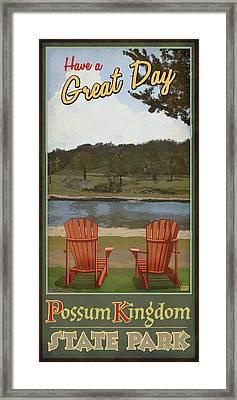 Have A Great Day Possum Kingdom Framed Print by Jim Sanders