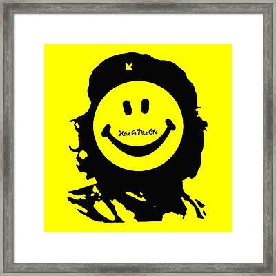 Have A Nice Che Guevara Framed Print by Tony Rubino