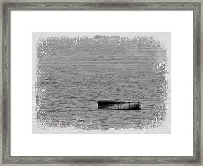 Have A Seat In The River Framed Print