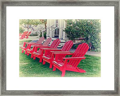 Have A Seat Framed Print