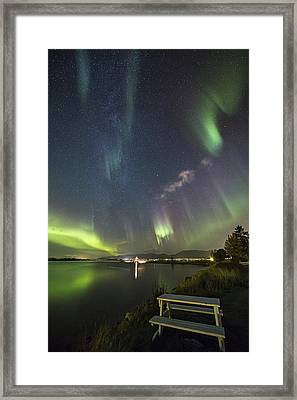 Have A Seat - The Show Is On Framed Print by Frank Olsen