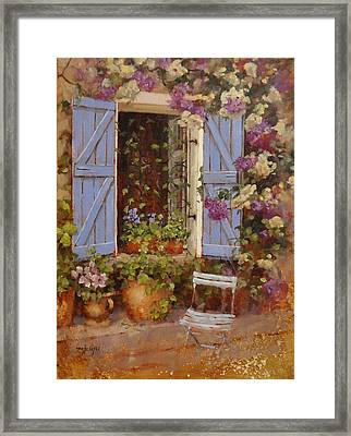 Have A Seat Two Framed Print by Laura Lee Zanghetti