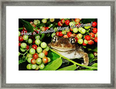 Have A Toadally Merry Christmas Framed Print