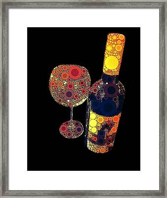 Have Some Wine Framed Print by Cindy Edwards