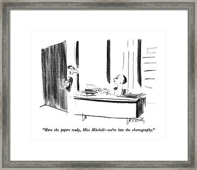 Have The Papers Ready Framed Print by Donald Reilly