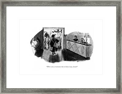 Have You A Treatment That Includes Lying Down? Framed Print by Helen E. Hokinson