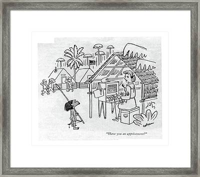 Have You An Appointment? Framed Print