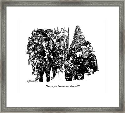 Have You Been A Moral Child? Framed Print by William Hamilton