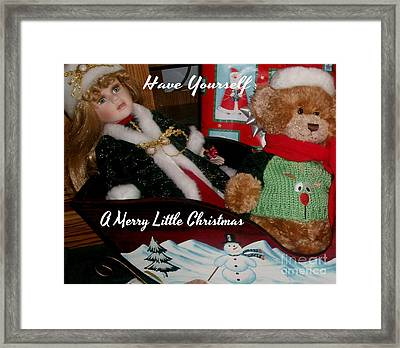 Have Yourself A Merry Little Christmas Framed Print by Gail Matthews