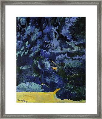 Haven In The Woods Framed Print by Claudia Popov