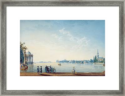 Havenrak To Broek In Waterland, Or The City Of Zwolle On The Banks Of The Ijssel In Holland, 1814 Framed Print