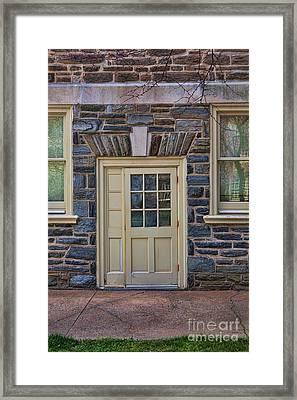 Haverford College Door Framed Print