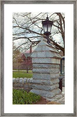 Haverford College Entrance Framed Print