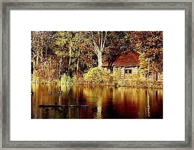 Haverford College Lake Framed Print