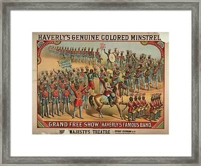 Haverly's Genuine Coloured Minstrels Framed Print