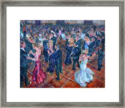 Having A Ball - Dancers Framed Print