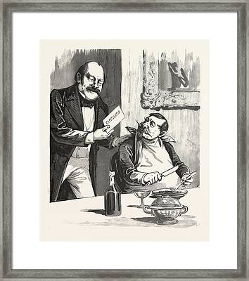Having Dinner After The Capitulation, Paris, France, 19th Framed Print by French School