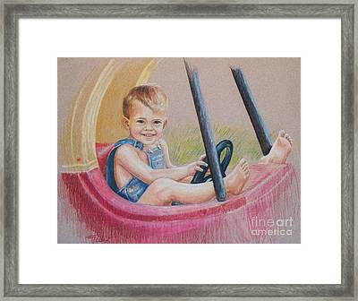Framed Print featuring the drawing Having Fun by Joy Nichols